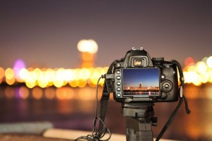 Credits http://www.shutterstock.com/pic-59881288/stock-photo-digital-camera-the-night-view-of-city.html