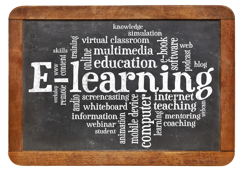 e-learning word cloud on blackboard